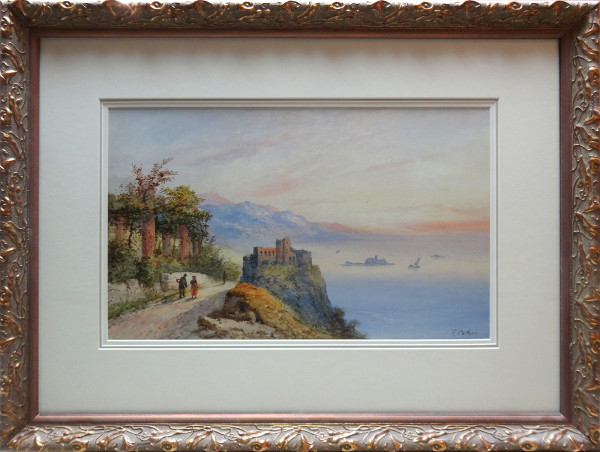 2133 - Landscape with figures by Frank Catano (XX)