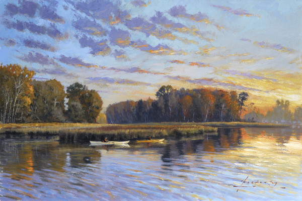 JH 1405 - Dawn over Ladner by John Horton (FCA, CSMA)
