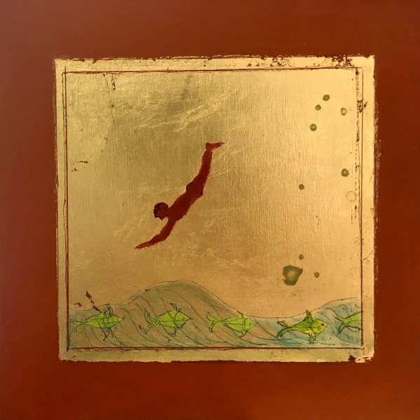 Dayglow Fish  (From a Tomb Painting) by Marie H Becker