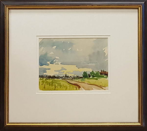 2319 - Distant View of Small Town by Llewellyn Petley-Jones (1908-1986)
