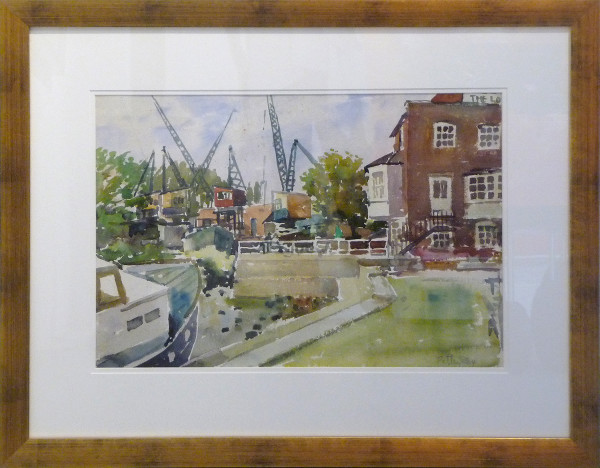 2434 - Dockside Cranes by Llewellyn Petley-Jones (1908-1986)