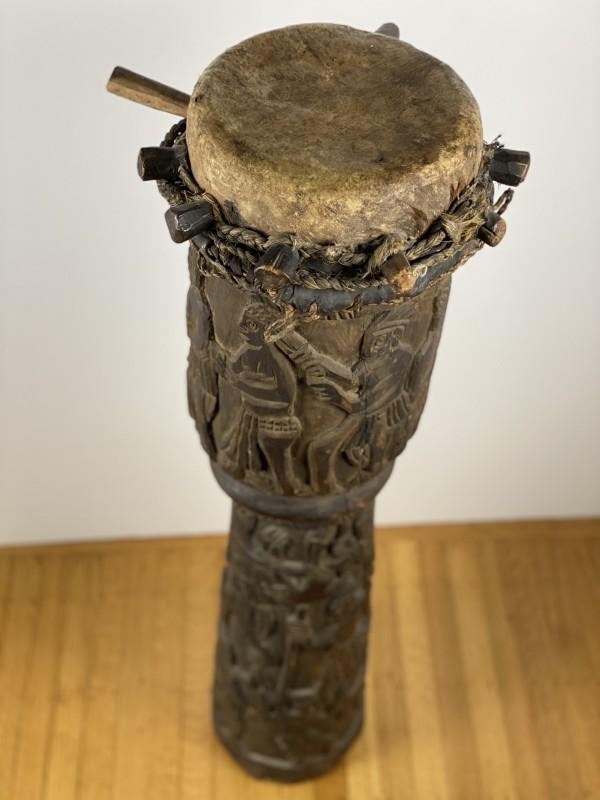 5097- African Wooden Congo Drum