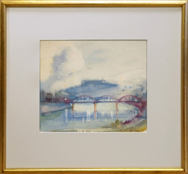2322 - East End Bridge by Llewellyn Petley-Jones (1908-1986)