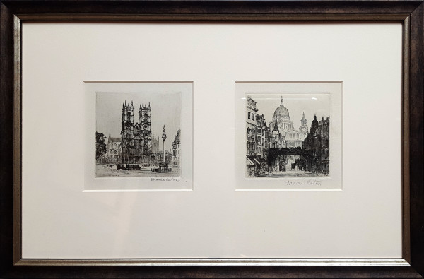 2966 - Cathedral x2 by Maria Hampshire Eaton (c1860-c1940)