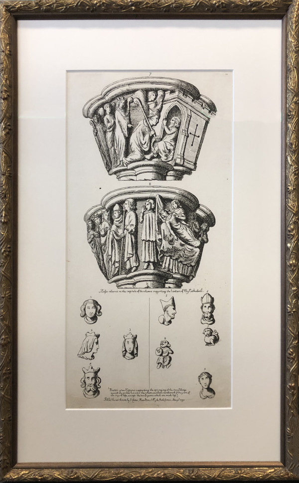 2518 - Capitals of Columns,  Ely Cathedral by J Carter