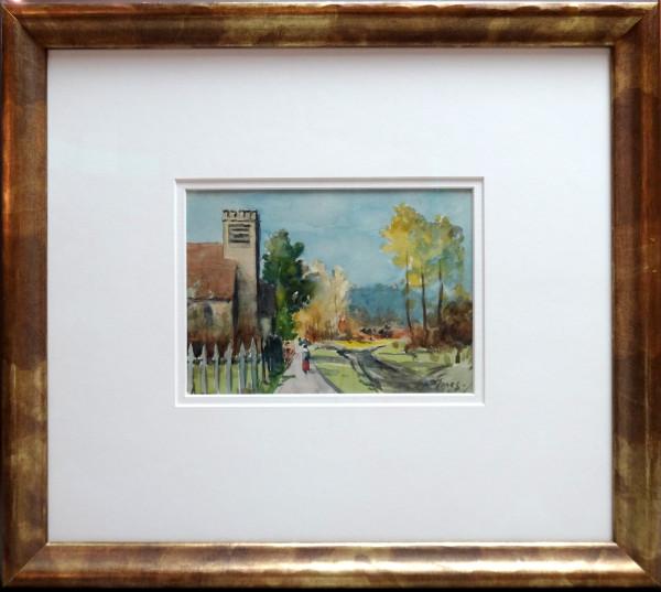 2328 - Evening in Walterdale, Edmonton by Llewellyn Petley-Jones (1908-1986)