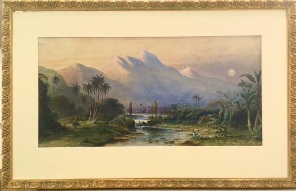 2653 - The Road to La Guavia, Venezuela by Frederick Arthur  Verner (1836 - 1928) A.R.C.A O.S.A