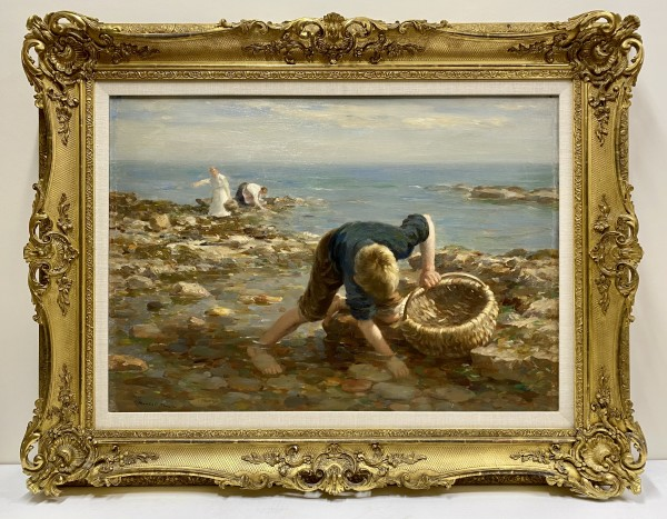 1056 - Gathering Mussels by William Marshall Brown RSA  (1863-1936)