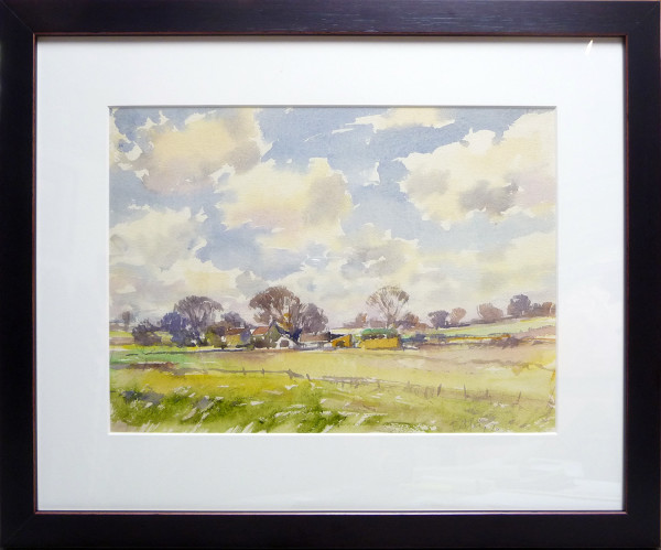 2955 - Farm in February, Surrey by Llewellyn Petley-Jones (1908-1986)