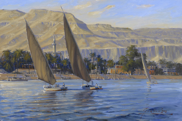 JH 1167 - Feluccas on the Nile by John Horton (FCA, CSMA)