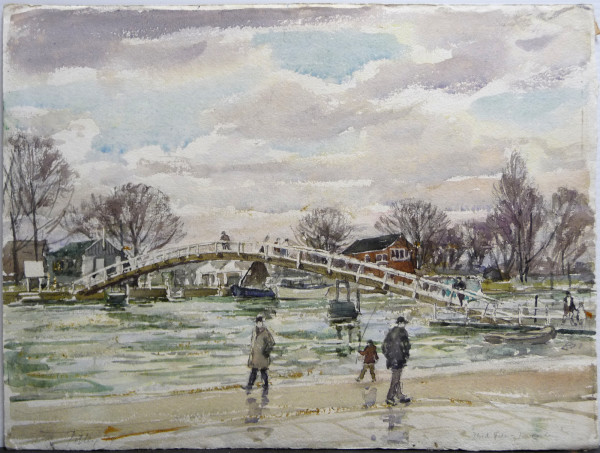 2995 - Flood Tide Twickingham by Llewellyn Petley-Jones (1908-1986)