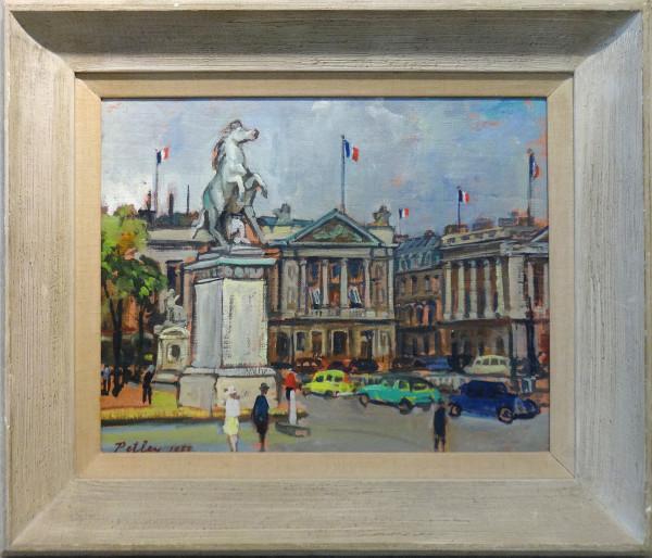 0223 - Hotel Grillon et Place de la Concorde by Llewellyn Petley-Jones (1908-1986)