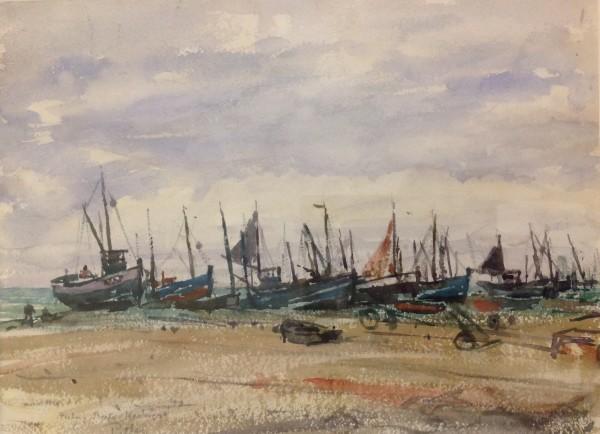 2993 - Fishing Boats - Hastings by Llewellyn Petley-Jones (1908-1986)