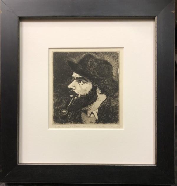 2909 - Self portrait Paris no 21 by Llewellyn Petley-Jones (1908-1986)