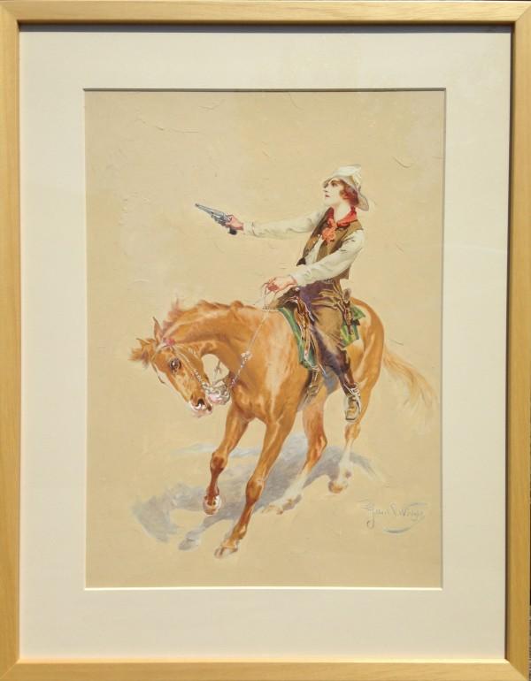 2703 - Lady Cowboy by Gilbert Portanier ( 1926 - present)