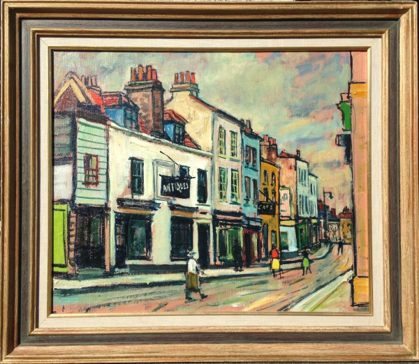 0146 - Street Scene, Richmond, Surrey by Llewellyn Petley-Jones (1908-1986)