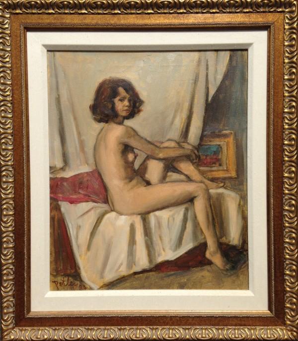 0998 - Seated Lady (Nude) by Llewellyn Petley-Jones (1908-1986)