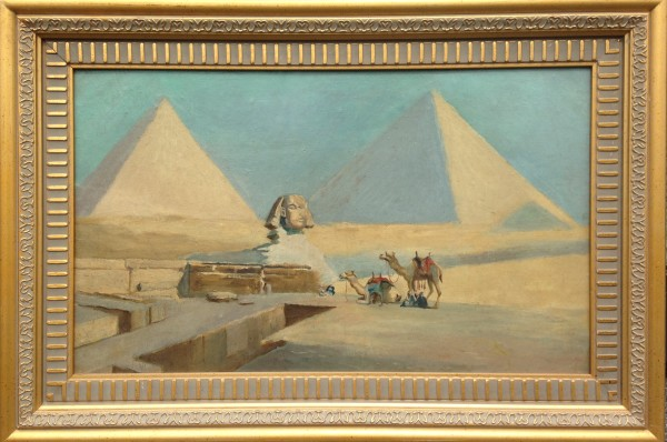 2734 - Pyramids of Giza by Unknown