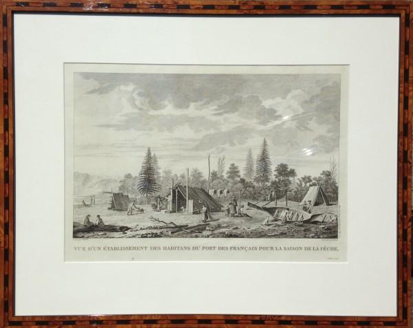 2672 - Vue D'un Establissement Des Habitants Du Port Des Francais Pour La Saison De La Peche by Louis Legrand (1863 - 1951)