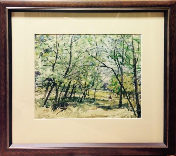3072 - Landscape with Trees by Llewellyn Petley-Jones (1908-1986)