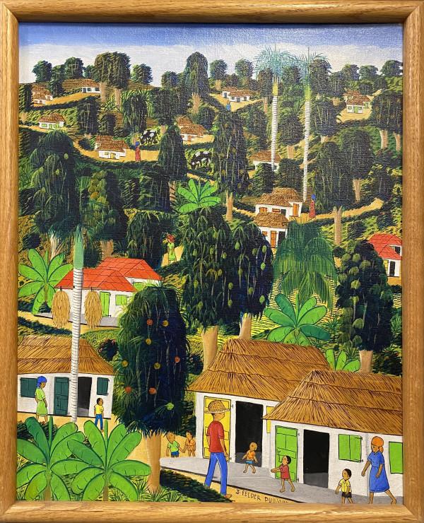 1062 - Haitian landscape by J Felder Dubique