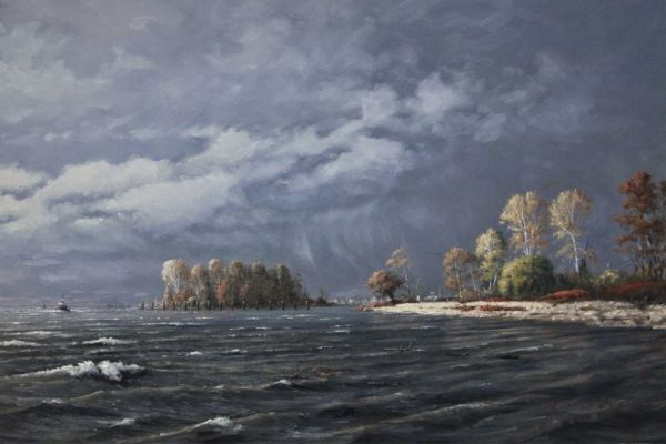 1280 - Incoming Weather (Fraser River, BC) by John Horton (FCA, CSMA)