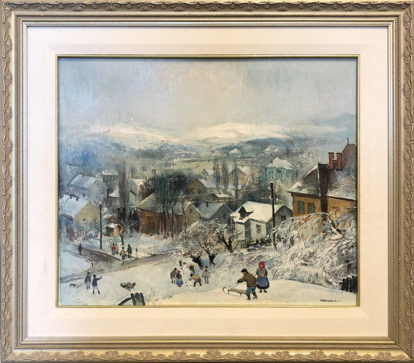 0663 - Winter Village by Antal Jancsek (1907-1985)