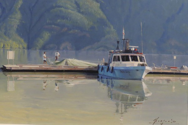 JH1417 - Mending the River Net (Bella Coola, BC) by John Horton (FCA, CSMA)