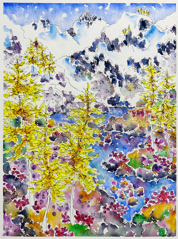 3045 - Larch Lake, End of Summer by Ann Nelson