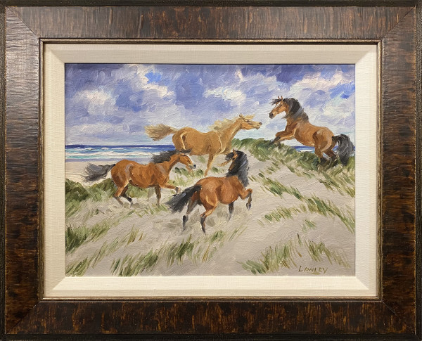 1063 - Ponies Romping on Sable Island by J.D. Lawley