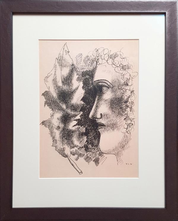 2198 - Tete Et Feuille by Fernand Leger (1881-1955)