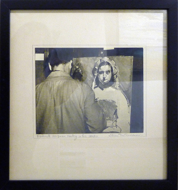 Fredrick Horsman Varley, in his studio by Lillian Dow Davidson