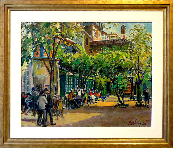 0202 - A Corner in Montmarte by Llewellyn Petley-Jones (1908-1986)