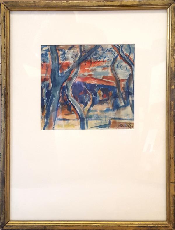 2333 - Houses Through Woods by Llewellyn Petley-Jones (1908-1986)