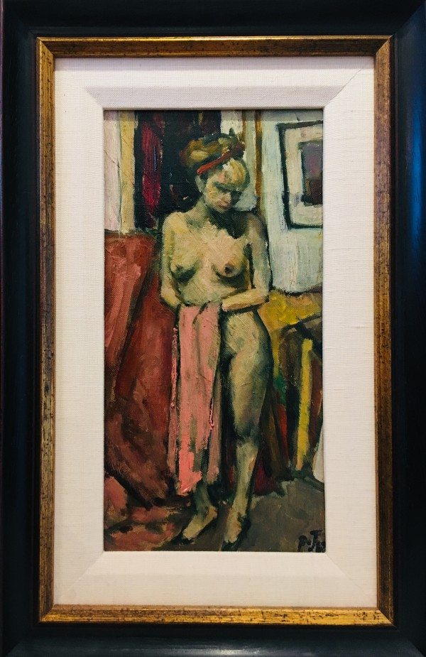 0278 - Nude (with a towel) by Llewellyn Petley-Jones (1908-1986)