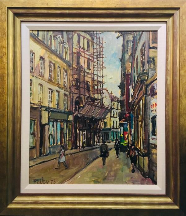0237 - Parisian Street with Scaffolding by Llewellyn Petley-Jones (1908-1986)