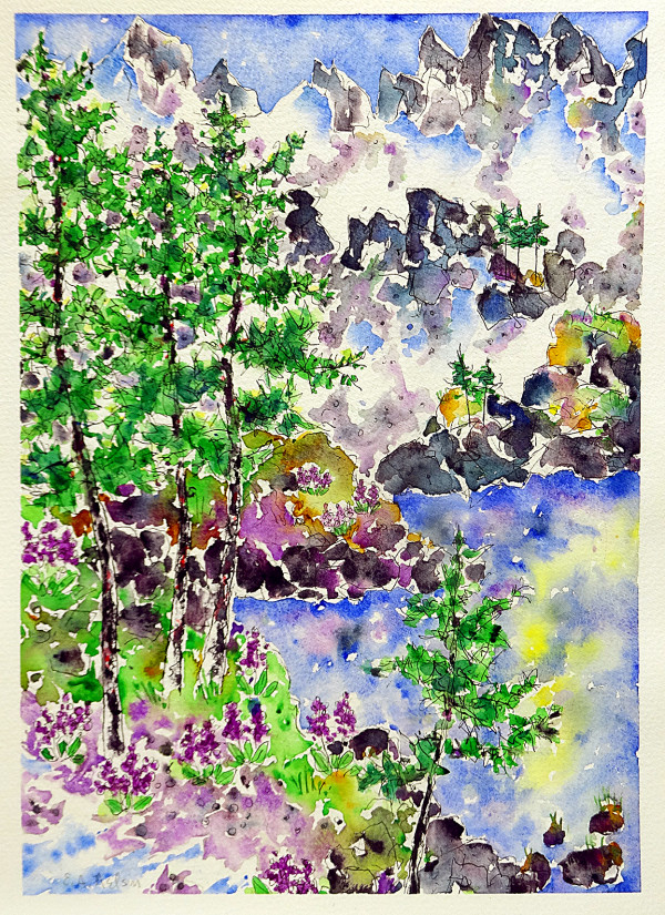 2895 - Lost Lake, July Flowers by Ann Nelson