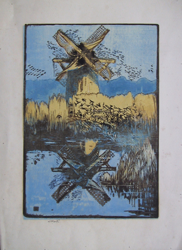 3061 - WINDMILL by William Monk (1863-1937)