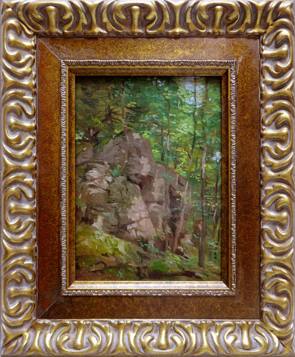 0748 - Untitled, Landscape with rocks V by Norwood Hodge MacGilvary (1874-1949)