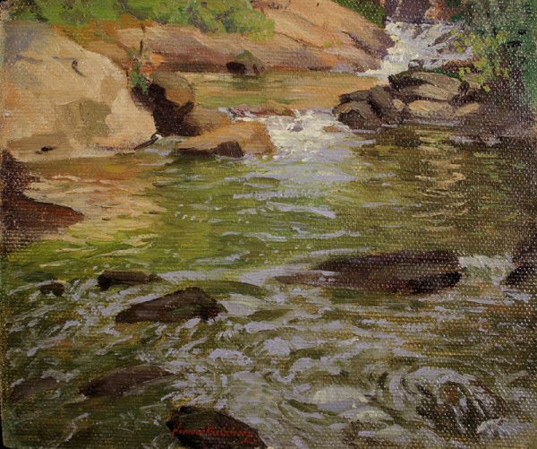 0808 - Cascading Brook by Norwood Hodge MacGilvary (1874-1949)