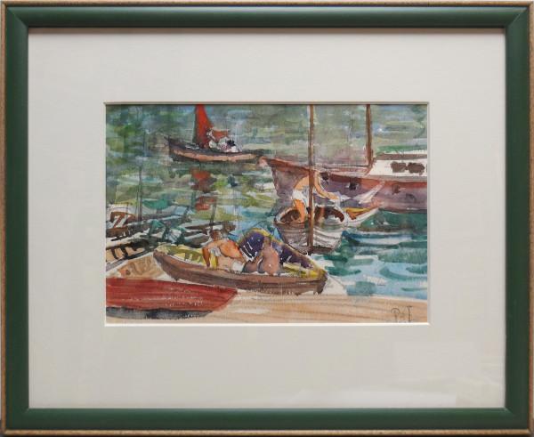 2337 - Men in Sailboats by Llewellyn Petley-Jones (1908-1986)
