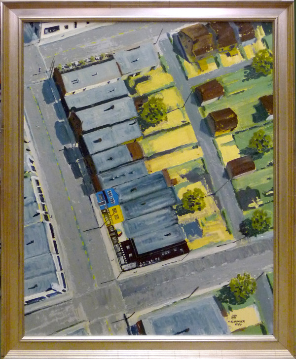 0909 - Flattened Buildings at 4th and Bayswater by Michael Kluckner