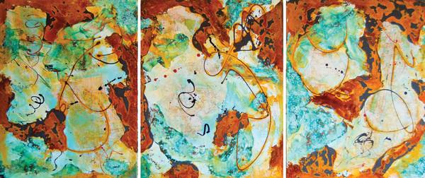 1158 - New York (Triptych) by Barbara Arnold