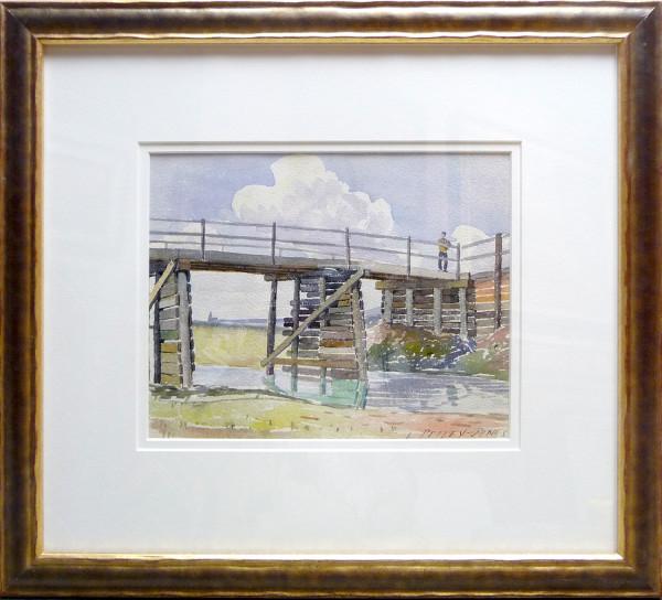 2342 - Old Bridge, noon by Llewellyn Petley-Jones (1908-1986)