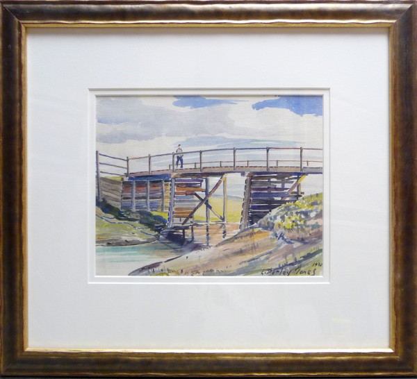 2841 - Old Bridge with Figure by Llewellyn Petley-Jones (1908-1986)