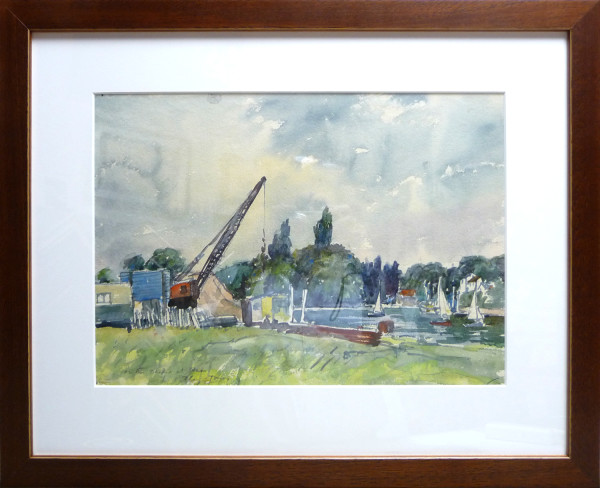 3091 - On the Thames at Ham by Llewellyn Petley-Jones (1908-1986)