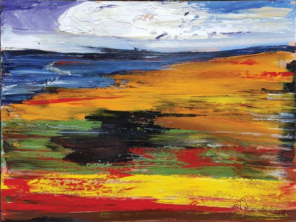 0477 - Orange Shores by Matt Petley-Jones
