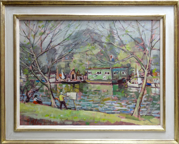 0235 - Painting by the River by Llewellyn Petley-Jones (1908-1986)