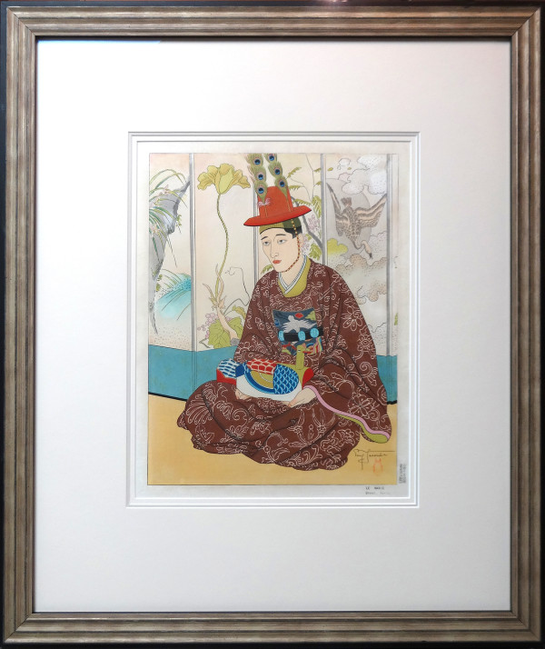 2206 - Le Marie, Seoul, Coree by Paul Jacoulet (1902-1960)