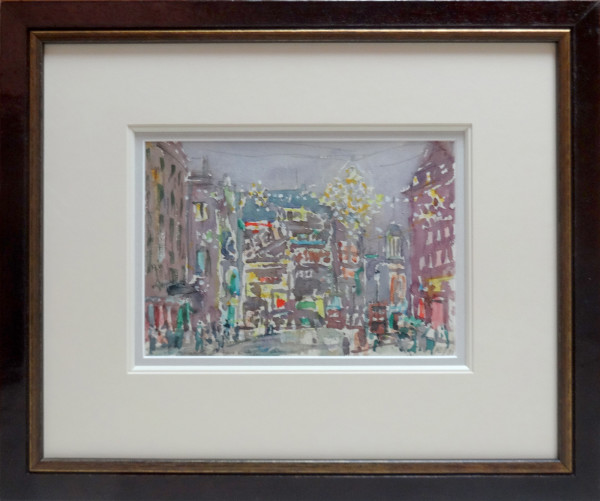 2346 - Piccadilly Circus, Christmas Decorations by Llewellyn Petley-Jones (1908-1986)